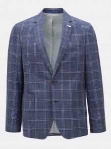 Modré kostkované sako Burton Menswear London