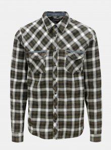 Krémovo-zelená regular košile Blend
