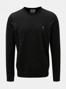 Černý žíhaný lehký svetr z Merino vlny Farah Mullen