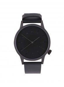 Pánské hodinky s černým koženým páskem Komono Winston Regal
