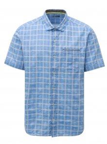 Modrá pánská regular fit vzorovaná košile s.Oliver