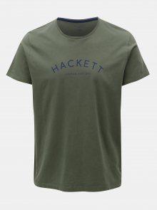 Khaki classic fit tričko Hackett London