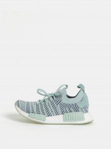 Modro-mentolové dámské tenisky adidas Originals Primeknit