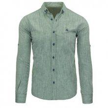 Pánská stylová košile zelená