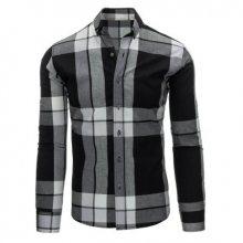 Černo-bílá pánská košile kostkovaná