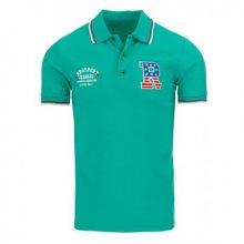 Pánské polo tričko s krátkým rukávem zelené