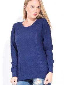 CACHEMIRE FRANCAIS Dámský svetr s kašmírem CFW-519 BLEU NUIT\n\n