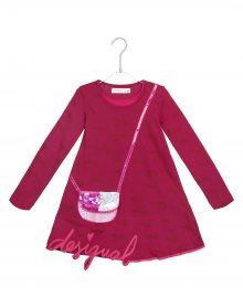Jefferson Šaty dětské Desigual | Červená Růžová | Dívčí | 3-4 roky