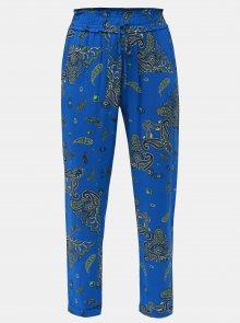Modré vzorované kalhoty Dorothy Perkins