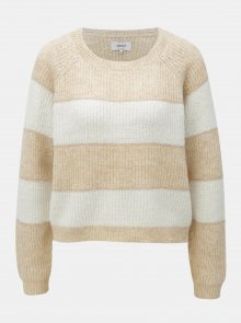 Krémovo-hnědý třpytivý svetr ONLY Malone