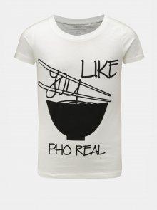 Bílé holčičí tričko s potiskem LIMITED by name it