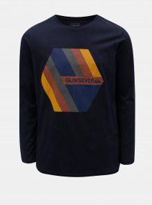 Modré klučičí regular fit tričko s potiskem Quiksilver