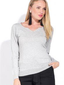 CACHEMIRE FRANCAIS Dámský svetr s kašmírem CFW-318 GIVRE\n\n
