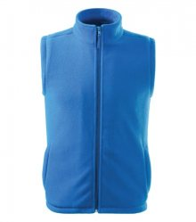 Fleecová vesta Next - Azurově modrá   XXXL