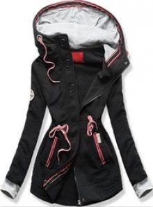 MODOVO Dlouhá dámská mikina s kapucí D543 černá