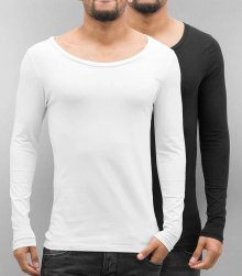 2-Pack Long Sleeve Black/White M