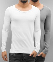 2-Pack Long Sleeve White/Grey XXL