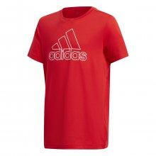 adidas Yb Tr Prime Tee červená 116