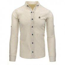 Pánská stylová košile béžová