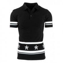 Pánské polo tričko s krátkým rukávem černé