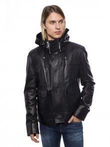 Trussardi Pánská kožená bunda U40TRC1030_Nero/Black\n\n