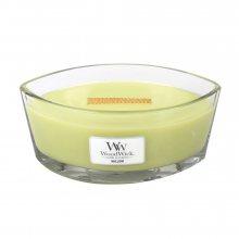 WoodWick Vrbové květy - svíčka ve skleněné dekorativní váze s dřevěným víčkem 2084027\n\n