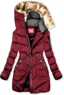 Bordó zimní prodloužená bunda