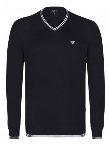 Emporio Armani Černo-bílý elegantní svetr od Armani Jeans Velikost: S