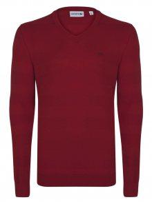 Červený elegantní svetr od Lacoste Velikost: XL