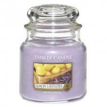 Yankee candle Vonná svíčka ve skle - levandule a citrón, 410g\n\n