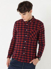 Diverse Pánská košile HODGER II LG Red-Black\n\n