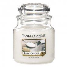 Yankee candle Svíčka ve skleněné dóze Yankee Candle -Dětský pudr, 410 g\n\n