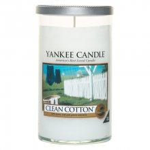 Yankee candle Vonná svíčka ve skle - Čistá bavlna, 340g\n\n