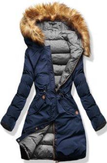MODOVO Dámská zimní bunda s kapucí  A5 modro-šedá