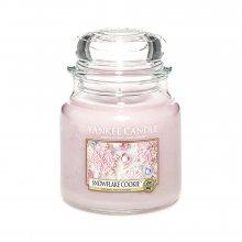 Yankee candle Cukrová vločka - svíčka ve skleněné dóze\n\n