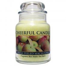 Cheerful Candle Vonná svíčka ve skle Čerstvé jablko CB57_6oz\n\n