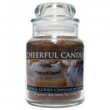 Cheerful Candle Vonná svíčka ve skle Skořicový mls CB84_6oz\n\n