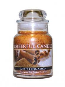 Cheerful Candle Vonná svíčka ve skle Skořice a koření CB102\n\n