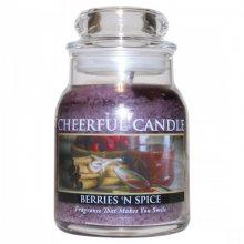 Cheerful Candle Vonná svíčka ve skle Lesní Plody a koření CB61_6oz\n\n