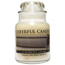 Cheerful Candle Vonná svíčka ve skle Svěží prádlo CB02_6oz\n\n