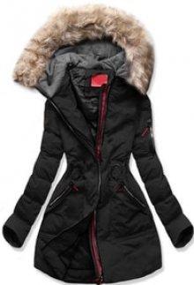 MODOVO Dámská zimní bunda s kapucí M-9 černá