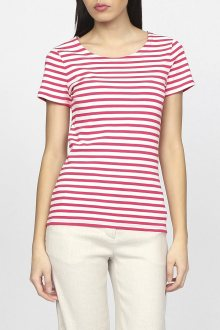 Tričko GANT O1. STRIPED 1x1 RIB SS T-SHIRT