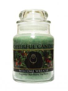 Cheerful Candle Vonná svíčka ve skle Vánoční věnec CB76\n\n