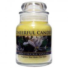 Cheerful Candle Vonná svíčka ve skle Zimolez a vanilka CB88_6oz\n\n
