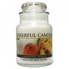 Cheerful Candle Vonná svíčka ve skle Gardénie a broskev CB67_6oz\n\n