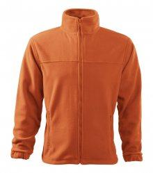 Pánská fleecová mikina Jacket - Oranžová | M