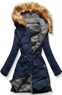 Modro/šedá oboustranná zimní bunda