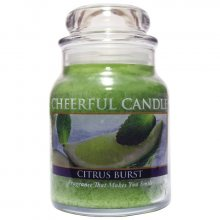 Cheerful Candle Vonná svíčka ve skle Citrusová svěžest CB32_6oz\n\n