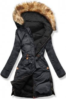 Šedo/černá oboustranná zimní bunda