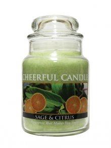 Cheerful Candle Vonná svíčka ve skle Šalvěj a citrus CB55\n\n